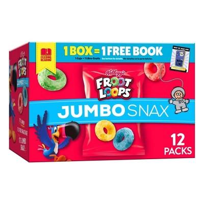Kellogg's Snax Froot Loops Jumbo Caddy Cereal - 5.4oz