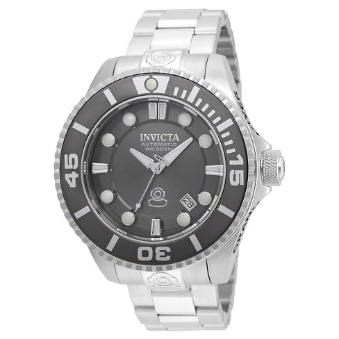 Men's Invicta 19800 Pro Diver Automatic 3 Hand Charcoal Dial Watch - Silver - image 1 of 1