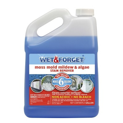 Wet & Forget Moss Mold Mildew & Algae Stain Remover - 1 Gallon