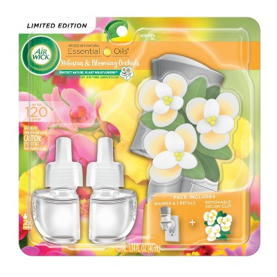 Air Wick Scented Oil - Spring Decor Hibiscus and Blooming Orchids - 1.34 fl oz