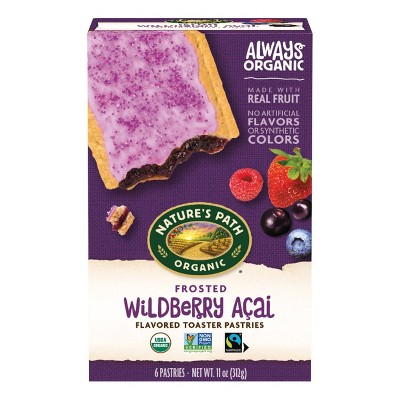 Nature's Path Organic Toaster Pastries Frosted Wildberry Acai - 6ct