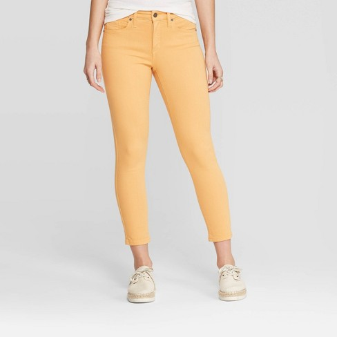 Women's High-Rise Cropped Skinny Jeans - Universal Thread™ Yellow - image 1 of 3