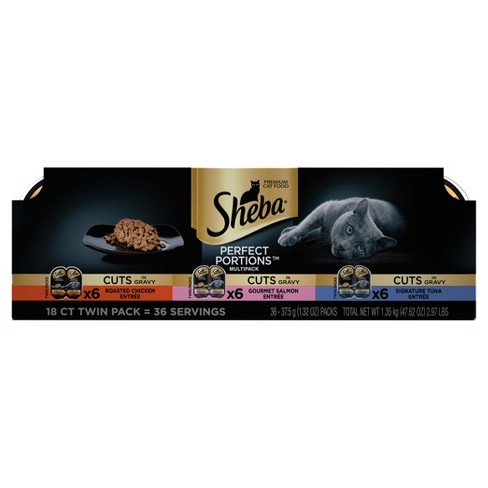 SHEBA Chicken, Salmon & Tuna Cuts in Gravy Wet Cat Food - 18ct - image 1 of 4