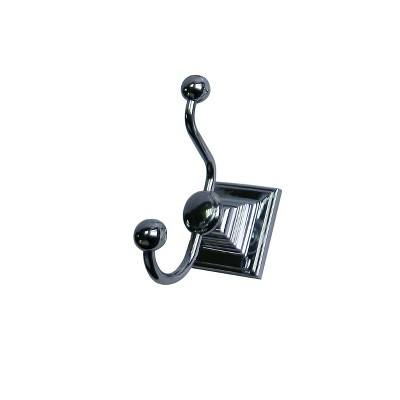 Wall Mounted Double Hook Light Silver - Elegant Home Fashions