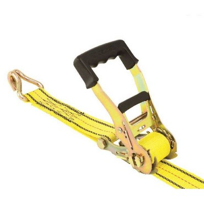 "Progrip 27"" x 2"" Ratchet With Double J Hooks Yellow"