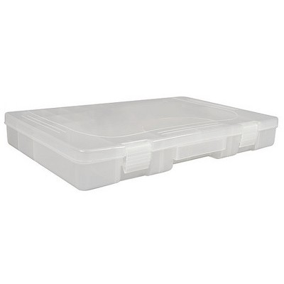 WESTWARD 5MZJ0 Large Accessory Tray w/ 28 Adjustable Slots, Clear Plastic