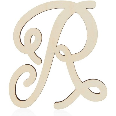 Bright Creations Unfinished Wood Monogram Letter R (13 in.)