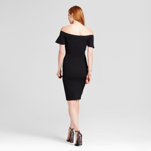 Womens Off The Shoulder Midi Bodycon Dress Necessary Objects