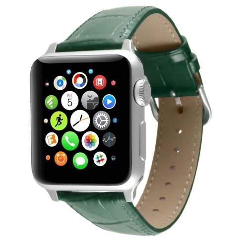 Apple Watch Replacement Leather Band 38mm with Steel Adapter - Green - image 1 of 3