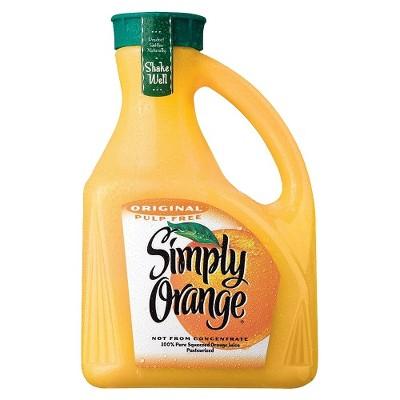 Simply Orange Pulp Free Juice - 89 fl oz Bottle