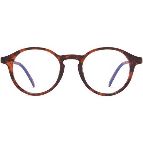 ICU Eyewear Screen Vision Blue Light Filtering Round Tortoise Glasses : Target