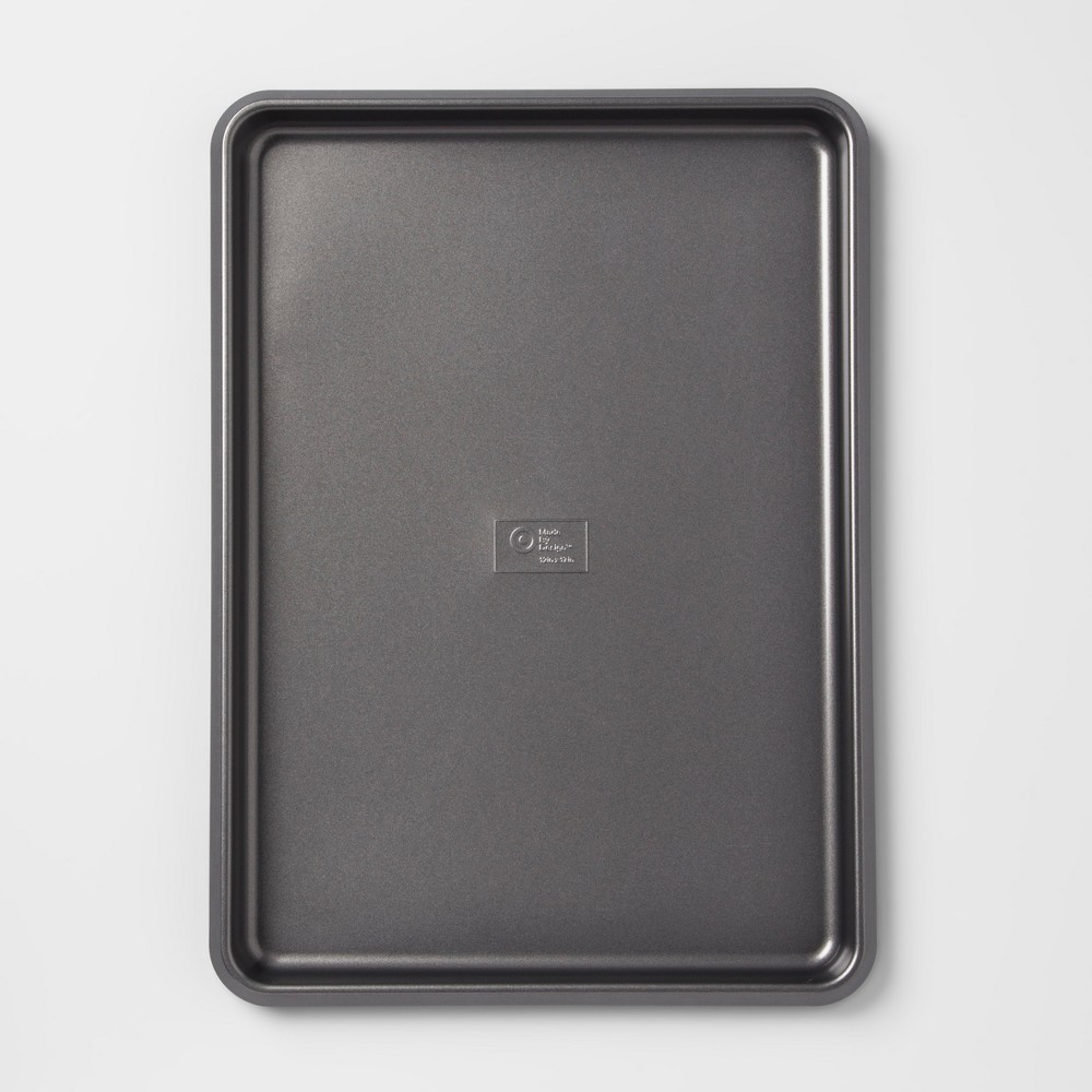 "Image of ""12"""" x 17"""" Non-Stick Jumbo Cookie Sheet Carbon Steel - Made By Design , Gray"""
