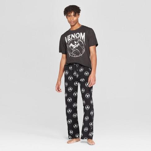 Men s Marvel Venom Logo Novelty Pajama Set - Gray 2XL   Target fee62b01d