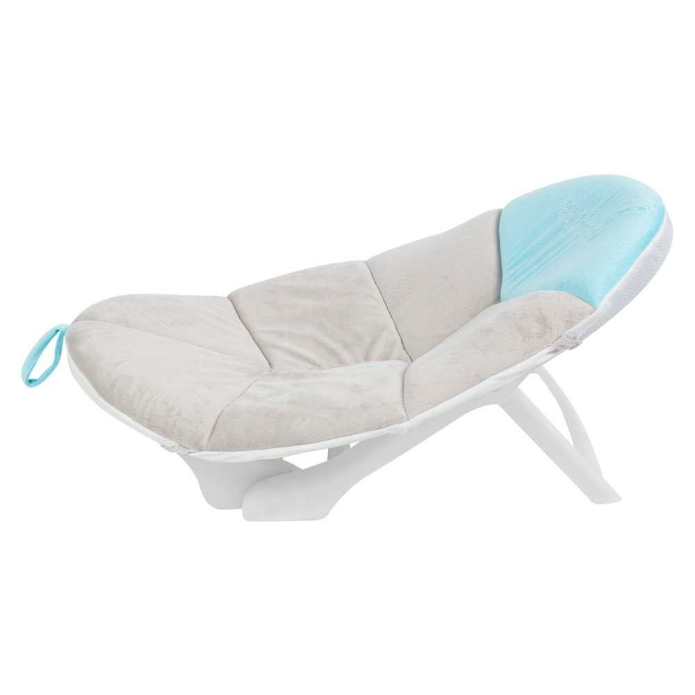 Image of Baby Delight Cushy Nest Cloud Premium Infant Bather - Teal/Gray