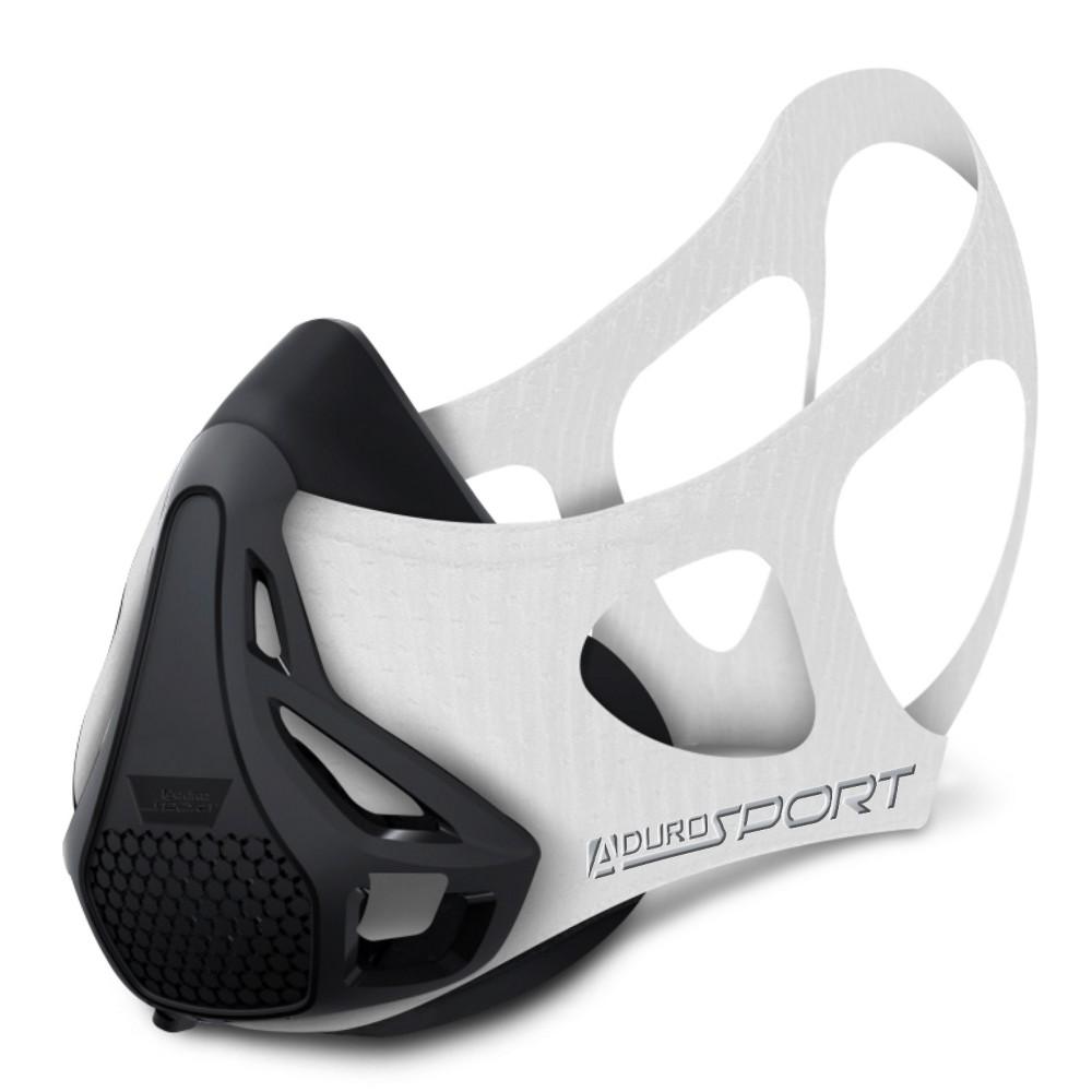Image of Aduro Sport Peak Resistance Workout Training Mask - White