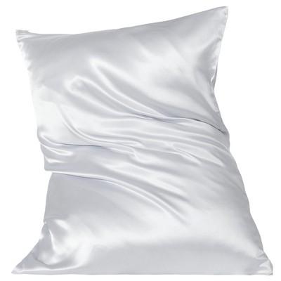 1 Pc Queen Silk for Hair and Skin Pillowcase Silver - PiccoCasa
