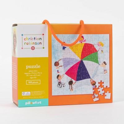 100pc Parachute Jigsaw Puzzle - Christian Robinson x Target