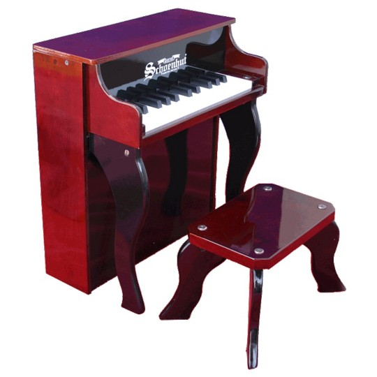 Schoenhut Elite Spinet with Bench - Mahogany/Black image number null