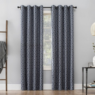 Burke Twill Mosaic Extreme 100% Blackout Grommet Top Curtain Panel - Sun Zero
