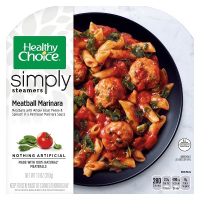 Healthy Choice Simply Steamers Frozen Meatball Marinara - 10oz