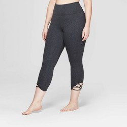 49592c0e5 Women s Plus Size Comfort High-Waisted 3 4 Knotted Leggings - JoyLab™