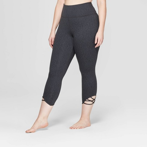 df29a3bb5d4 Women s Plus Size Comfort High-Waisted 3 4 Knotted Leggings - JoyLab ...