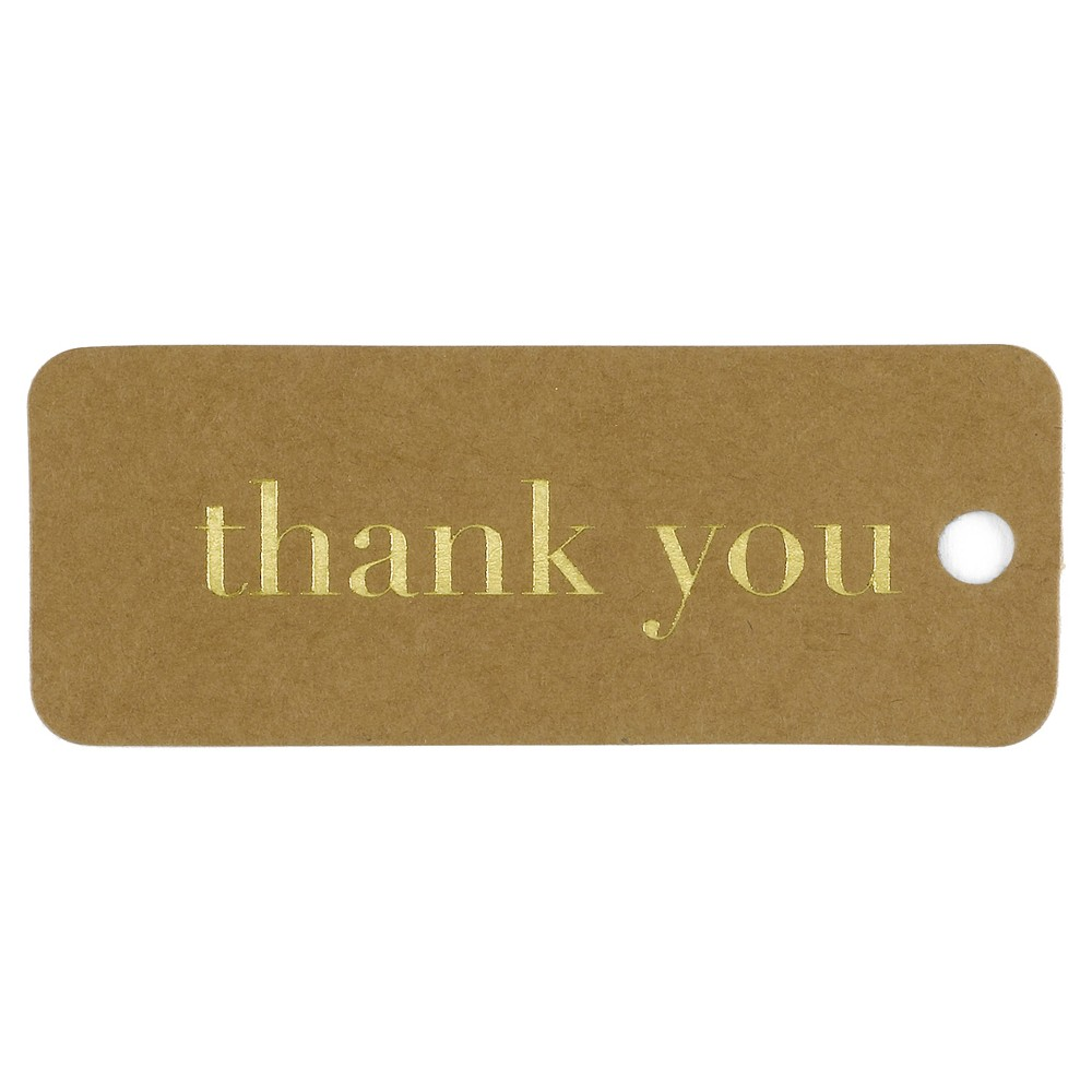 25ct Gold & Kraft Favor Tags