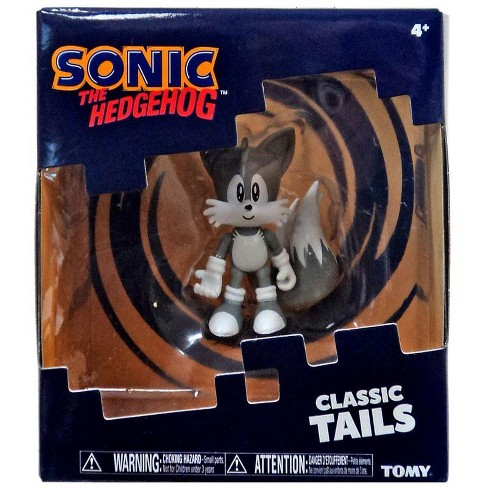 Sonic The Hedgehog Classic Tails Action Figure Black And White Deco Target