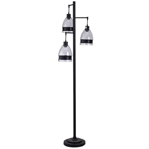 Steel Floor Lamp Black  - StyleCraft - image 1 of 1
