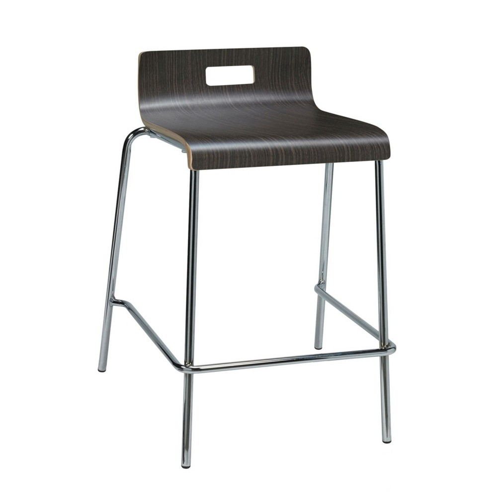 Image of Jive Low Back Counter Height Stool Espresso - KFI Seating