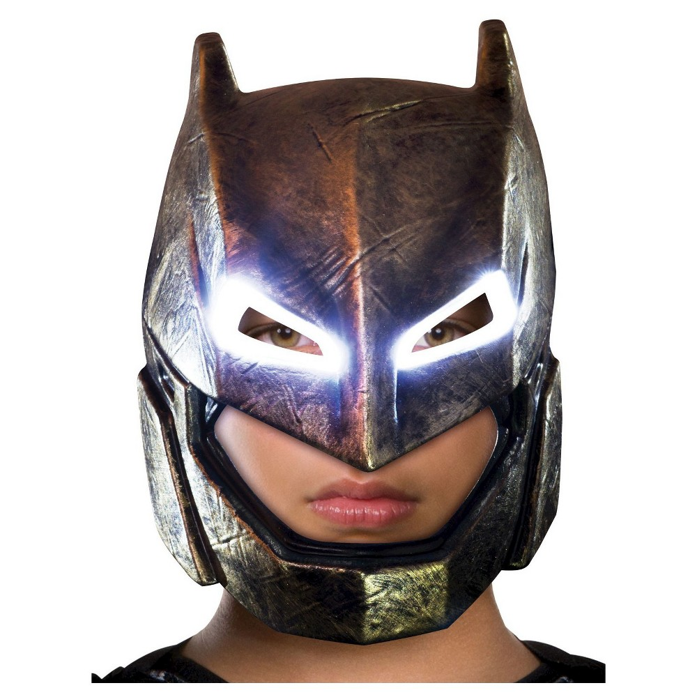Image of Batman Adult Armored Light Up Mask DC Comics Dawn of Justice, Men's