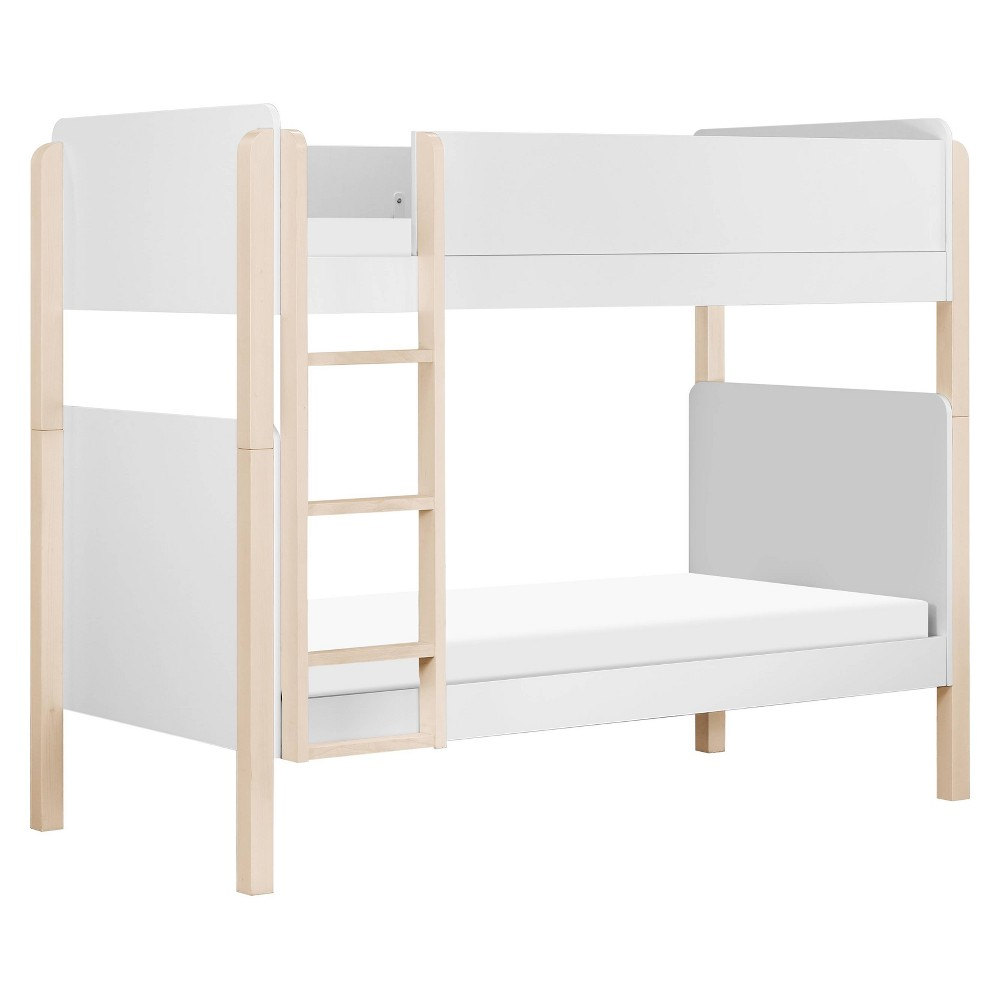 Tiptoe Bunk Bed White/Washed Natural - Babyletto