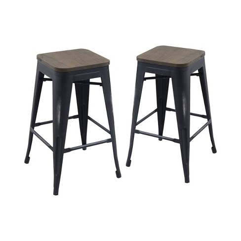 Groovy Iohomes Slack Contemporary Counter Height Stools Machost Co Dining Chair Design Ideas Machostcouk