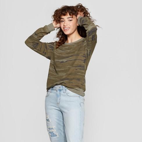 d52f16a2231 Women s Camo Print Pullover Sweatshirt - Zoe+Liv (Juniors ) Green ...