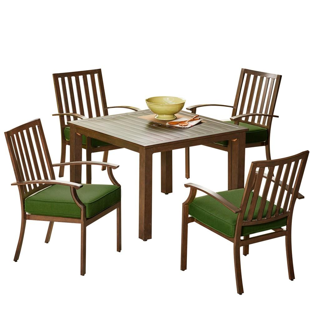 5pc Bridgeport Dining Set Green - Royal Garden