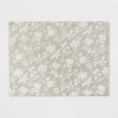 19 x14  Floral Placemat Gray - Threshold™