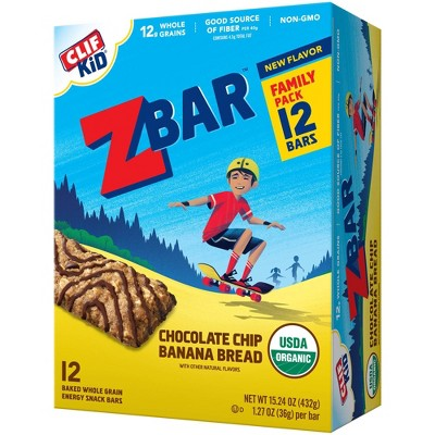 CLIF Kid ZBAR Chocolate Chip Banana Bread - 12ct