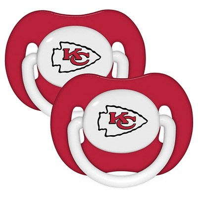 Kansas City Chiefs Baby Fanatic Pacifiers - 2 Pack