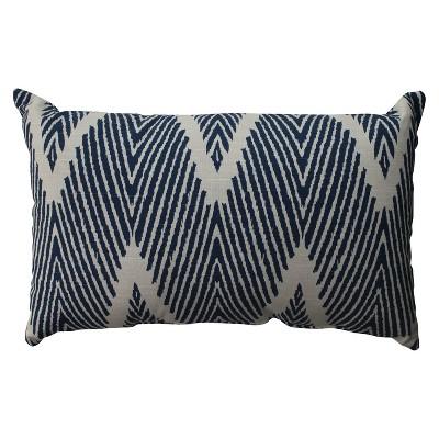 Navy Bali Lumbar Throw Pillow 11.5 x18.5  - Pillow Perfect