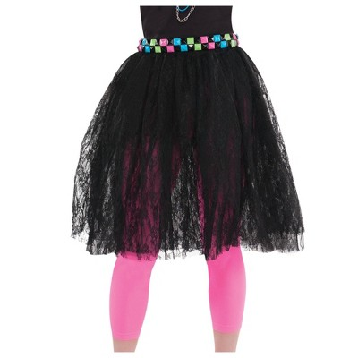 Adult Lace Skirt Halloween Costume Black
