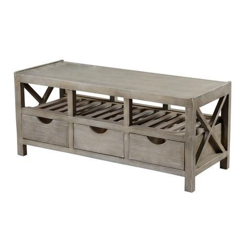 Outstanding Archer Ridge 3 Drawer Storage Bench White Stylecraft Cjindustries Chair Design For Home Cjindustriesco