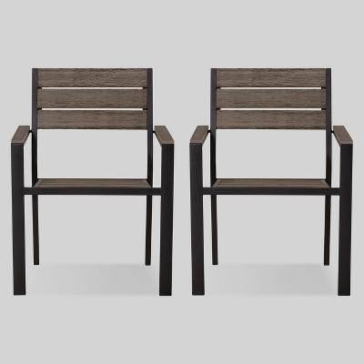 Genial Mantega 2pk Faux Wood Patio Dining Chair   Project 62™ : Target