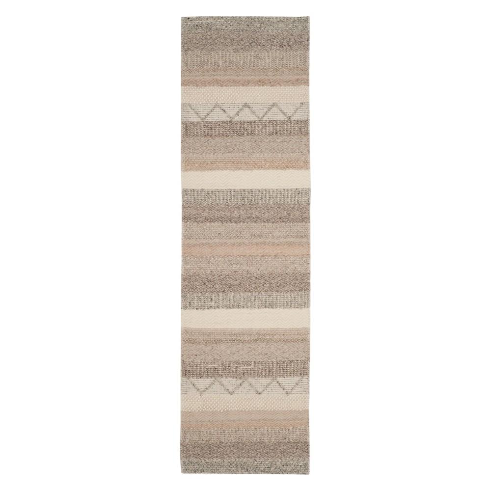 2'3X14' Stripe Woven Runner Beige - Safavieh