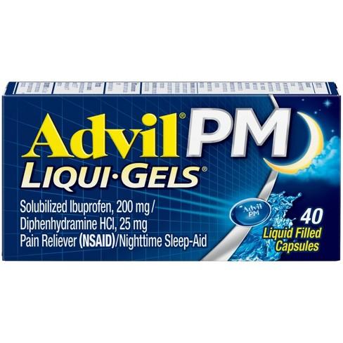 Advil PM Liqui-Gels Pain Reliever/Nighttime Sleep Aid Liquid Filled Capsules - Ibuprofen (NSAID) - image 1 of 4