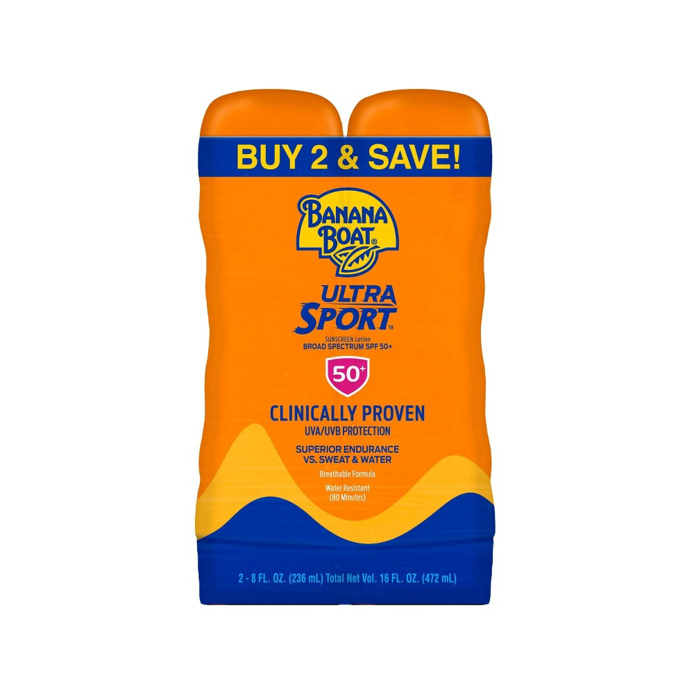Image of Banana Boat Sunscreen Ultra Sport sunscreen Lotion - SPF 50 - 2pk/16 fl oz