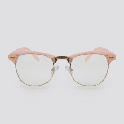 Women's Blue Light Filtering Retro Square Glasses - Wild Fable™ Pink