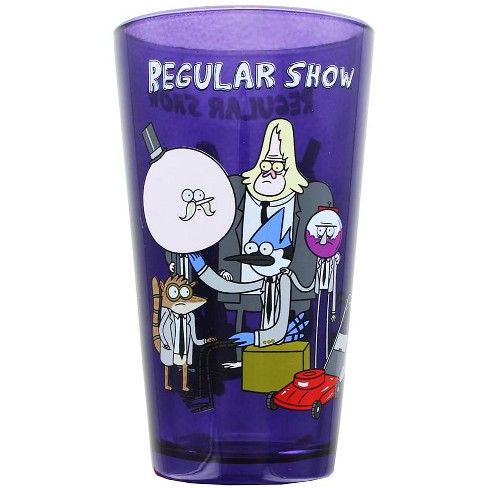 Just Funky Regular Show Group Pint Glass - image 1 of 1
