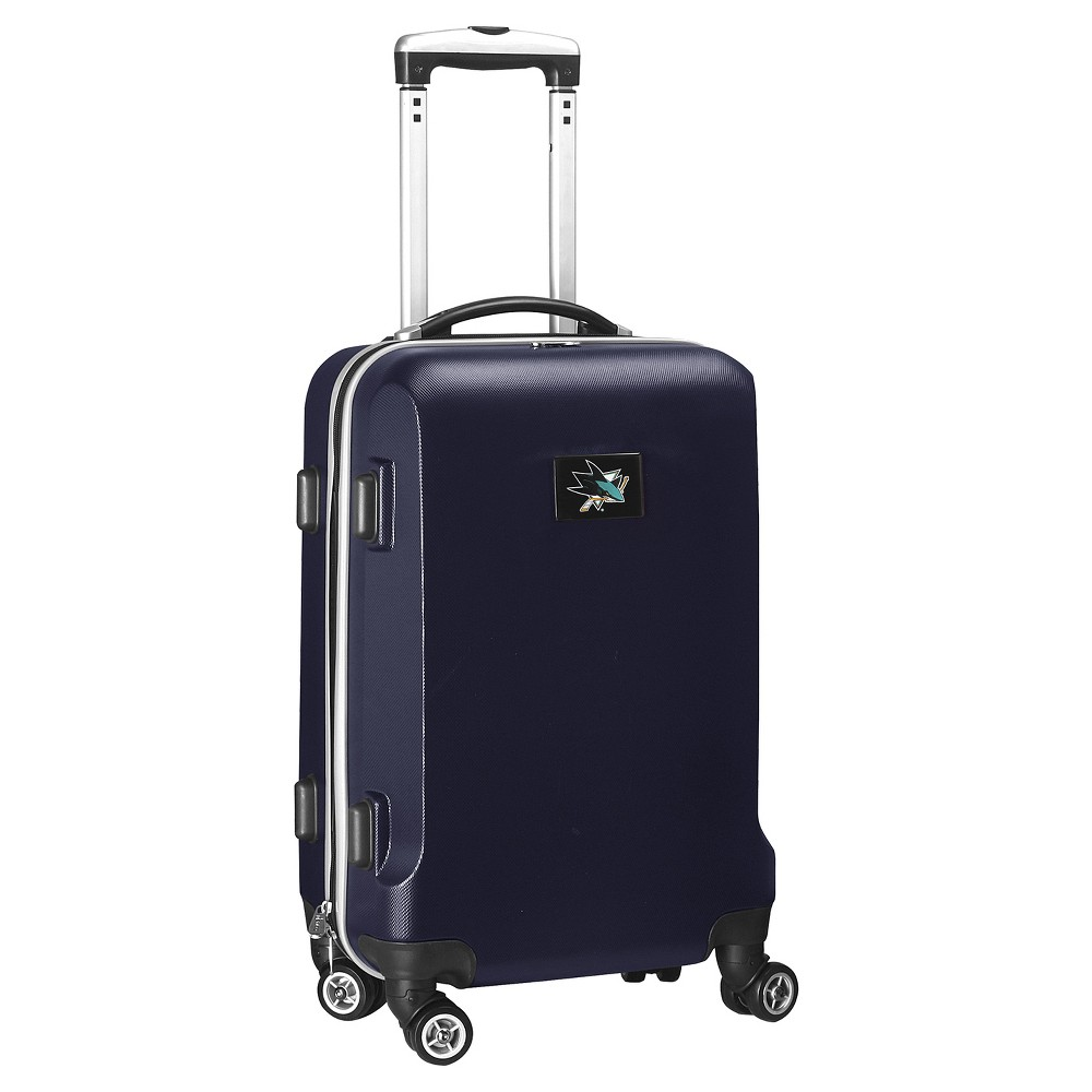 NHL San Jose Sharks Mojo Hardcase Spinner Carry On Suitcase - Navy