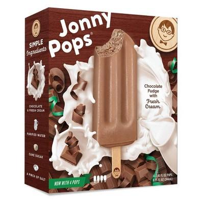 JonnyPops Dark Chocolate & Cream Frozen Bars - 4pk/8.25oz