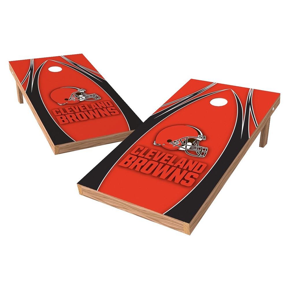 Cleveland Browns Wild Sports XL Shield Logo Cornhole Bag Toss Set - 2x4 ft.
